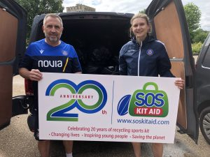 Bath rugby kit donation and SOS Kit Aid